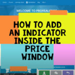 How to add an Indicator On Price - ProRealTime